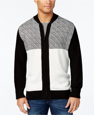 Sean John Men's Jacquard Zip-Up Cardigan, Only at Macy's $64.50 thestylecure.com