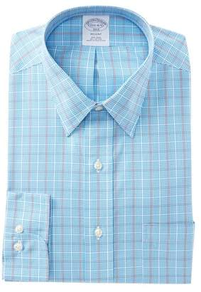 Brooks Brothers Slim Fit Grid Print Dress Shirt
