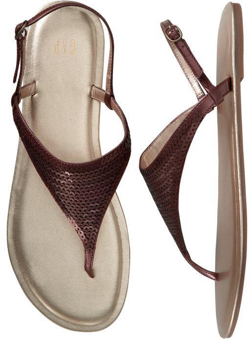 Sequin sandals