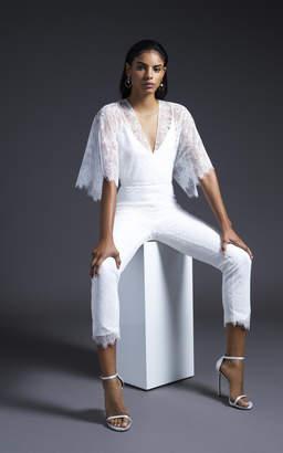Cushnie Bridal Aiden Kimono Sleeve Lace Jumpsuit