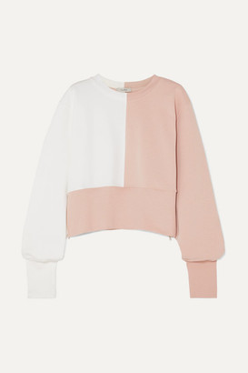 Vaara Maeve Paneled Cotton-blend Jersey Sweatshirt - Baby pink
