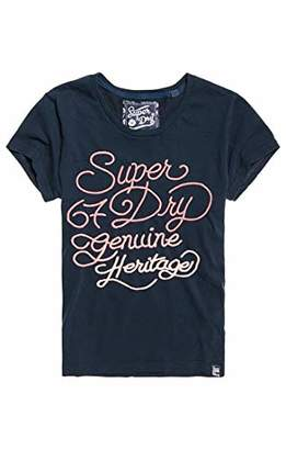 Superdry Women's 67 Fade Embroidery Ent Kniited Tank Top,Large (Size: 14)