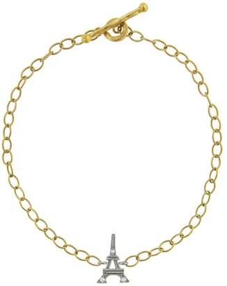 Cathy Waterman Diamond Eiffel Tower Chain Bracelet