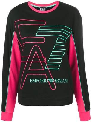 Emporio Armani Ea7 logo printed sweater