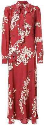 McQ pussy-bow floral print dress