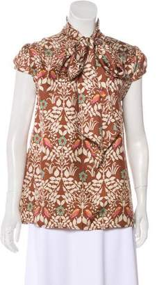 Tracy Reese Silk Cap Sleeve Top