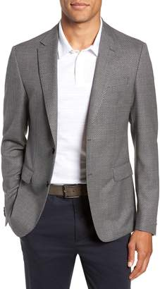 BOSS Nobis Trim Fit Houndstooth Wool Sport Coat