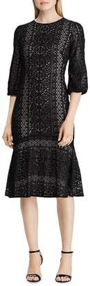 Ralph Lauren Eyelet Lace Drop-Waist Dress