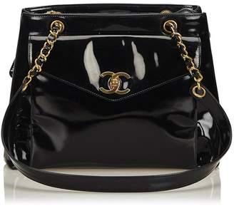 Chanel Vintage Patent Leather Chain Shoulder Bag