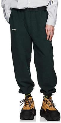 Vetements Men's Logo Cotton-Blend Fleece Inside-Out Sweatpants - Dk. Green