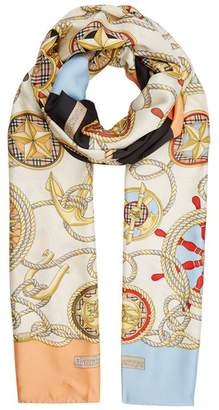 Burberry Nautical Silk Scarf