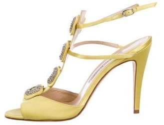 Manolo Blahnik Suwny Crystal-Embellished Sandals