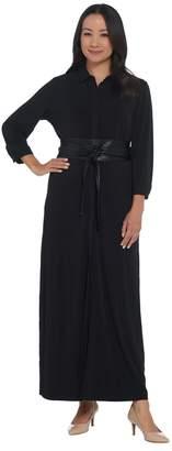 Brooke Shields Timeless BROOKE SHIELDS Timeless Regular Knit Maxi Dress with Belt