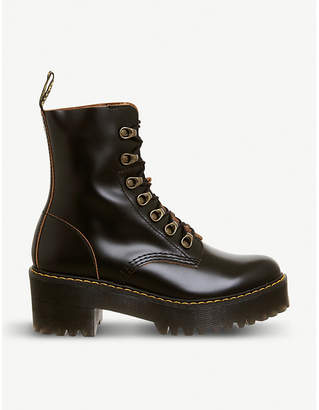 Dr. Martens Leona heeled leather boot