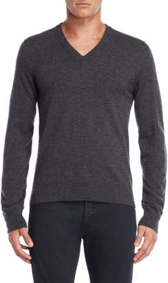 Maison Margiela Charcoal V-Neck Pullover Sweater
