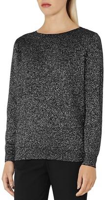 REISS Luli Metallic Sweater $195 thestylecure.com
