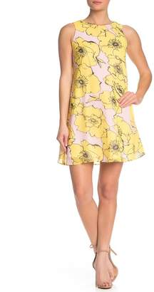 Taylor Floral Sleeveless Chiffon Shift Dress
