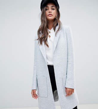 Asos Tall DESIGN Tall slim coat in texture