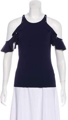 Jonathan Simkhai Embellished Cold-Shoulder Top
