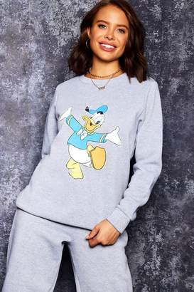 boohoo Disney Donald Print Sweat