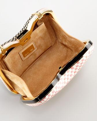 Fendi Giano Quadrotino Clutch Bag