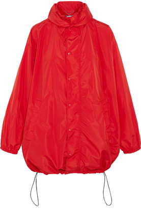 Hooded Shell Windbreaker Jacket - Red