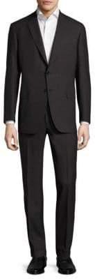 Brioni Textured Pinstripe Wool Suit