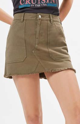 Pacsun Frayed Hem Skirt