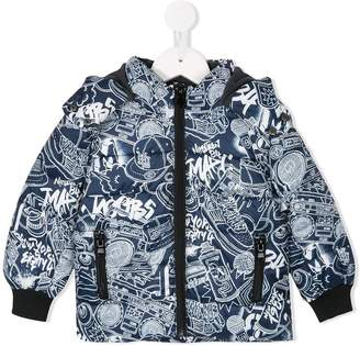 Little Marc Jacobs (リトル マーク ジェイコブス) - Little Marc Jacobs graffiti print padded coat