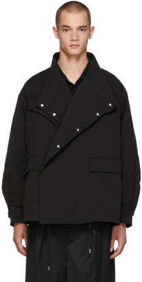 ALMOSTBLACK Black Asymmetric Jacket