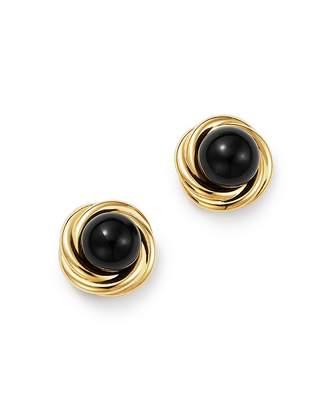 Bloomingdale's Onyx Swirl Stud Earrings in 14K Yellow Gold - 100% Exclusive