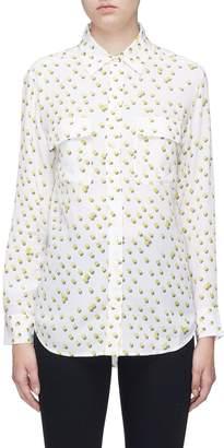 Equipment 'Signature' tennis ball print silk crepe shirt