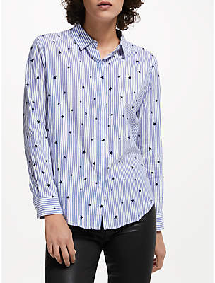 Rails Taylor Flocked Star Shirt, Blue
