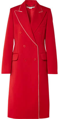 Stella McCartney Silk-trimmed Wool-twill Coat - Red