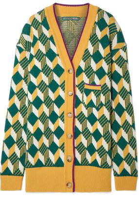 ALEXACHUNG Oversized Wool Cardigan - Mustard