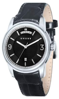 Cross Palatino Men's Quartz Watch with Black Dial Analogue Display and Black Leather Strap CR8007-01