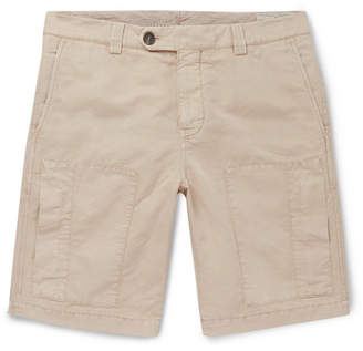 Brunello Cucinelli Linen And Cotton-Blend Cargo Shorts