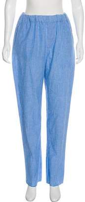Baja East Striped High-Rise Pants