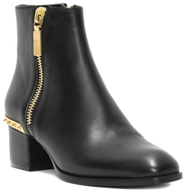 Alexander McQueen Metal Counter Ankle Boot