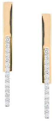 Women's Lana Jewelry Flawless Diamond Stacked Bar Earrings $1,390 thestylecure.com