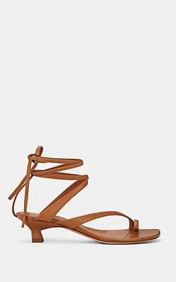 Derek Lam Women's Sirene Leather Ankle-Tie Sandals - Luggage, Bagage
