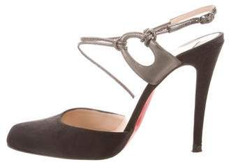 Christian Louboutin Pointed-Toe Ankle Strap Pumps
