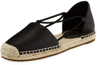 Eileen Fisher Lee d'Orsay Flat Leather Espadrille Sandal