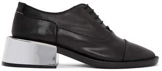 Maison Margiela Black Metallic Heel Loafers