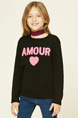 Forever 21 Girls Amour Sweater (Kids)