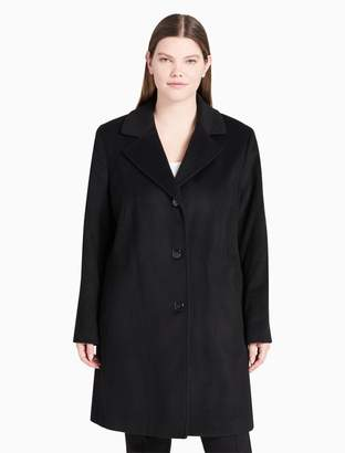 Calvin Klein plus size wool cashmere blend overcoat