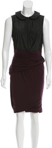 CarvenCarven Collared Contrast Dress