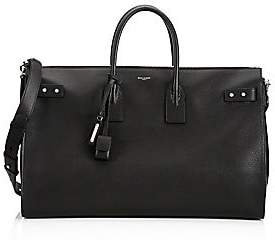 Saint Laurent Men's Sac Du Jour Leather Duffle Bag