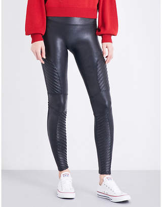 4804477ed91c10 at Selfridges · Spanx Moto faux-leather leggings