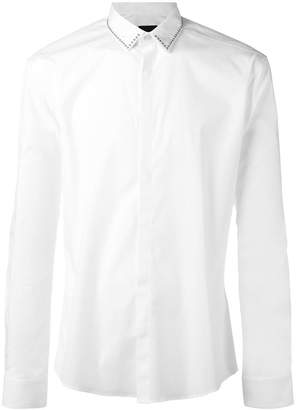 Les Hommes studded slim-fit shirt